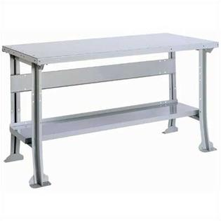 LYON Work Bench with Stringer and Shelf: 60&amp;#34; W x 28&amp;#34; D - Bench Color: Putty, Leg Type: Standard, Top Construction: Super Comp Top at Sears.com