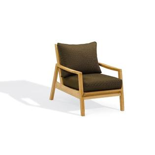 Oxford Garden Siena Club Chair with Deep Seat Cushions - Color: Dupione Walnut at Sears.com