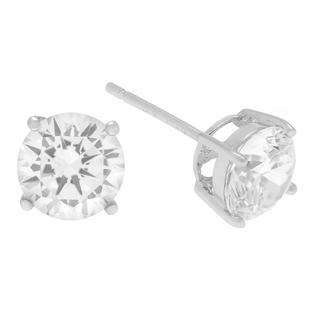 SilverBin Sterling Silver 7-mm Round-cut Cubic Zirconia Stud Earrings at Sears.com