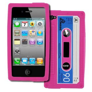 Empire MPERO Hot Pink Cassette Silicone Case Skin Cover for Apple iPhone 4 / 4S at Sears.com