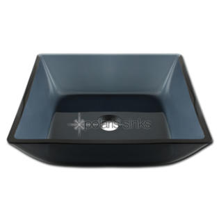 PolarisSinks Square Black Glass Vessel Bathroom Sink at Sears.com