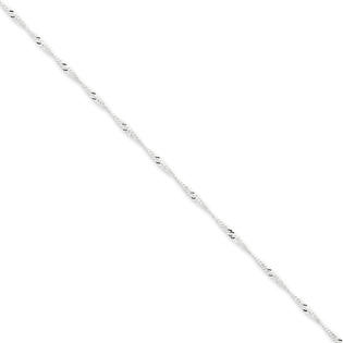 Jewelryweb Sterling Silver 1.75mm Singapore Chain Necklace - 24 Inch - Lobster Claw at Sears.com