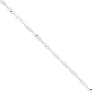 Jewelryweb Sterling Silver 3.00mm Singapore Chain Necklace - 24 Inch - Lobster Claw at Sears.com