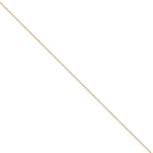 Jewelryweb 14K Rose Gold .7mm Ropa Chain Necklace - 20 Inch at Sears.com