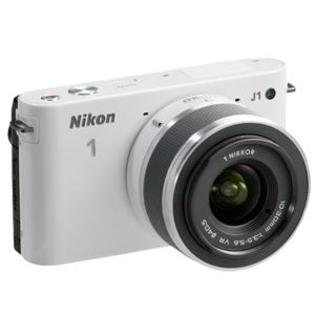 Nikon 1 J1 Digital Camera Body with 10-30mm VR Lens (White) - Factory Refurbished includes Full 1 Year Warranty at Sears.com