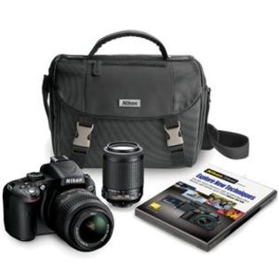 Nikon D5100 Digital SLR Camera with 18-55mm + 55-200mm VR DX AF-S Zoom Lens Case + DVD at Sears.com
