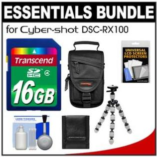 Transcend Essentials Bundle for Sony Cyber-Shot DSC-RX100 Digital Camera with 16GB Card + Case + Flex Tripod + Accessory Kit at Sears.com