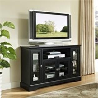 Walker Edison 52 in. Highboy Style Wood TV Stand in Black at Sears.com