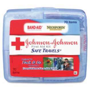 SPR Product By Johnson &amp; Johnson - Safe Travels Fir Aid Kit 70 Pieces 5-1/2&amp;#34;x6-1/4&amp;#34;x1-1/2&amp;#34; at Sears.com