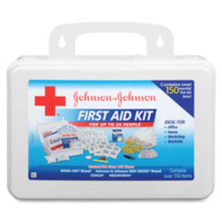 SPR Product By Johnson &amp; Johnson - Fir Aid Kit 158 Pieces For Up To 25 People Plaic Case at Sears.com