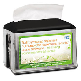 Tork Xpressnap Tabletop Napkin Dispenser, 5.8w x 7.8d x 6.2h, Black at Sears.com