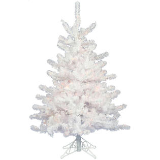VCo 3&#039; Pre-Lit White Crystal Pine Artificial Spruce Christmas Tree- Multi Lights at Sears.com