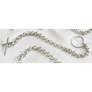 Roman Set of 4 Silver Plated Religious Cross Kristen Holub Toggle 8&amp;#34; Bracelets #11211 at Sears.com