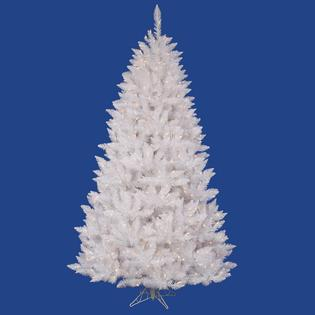 VCo 6.5&#039; Pre-Lit White Sparkle Spruce Artificial Christmas Tree - Clear Lights at Sears.com