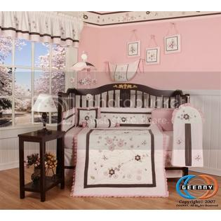 GEENNY Boutique Brand New GEENNY Blossom Quilt 13PCS CRIB BEDDING SET at Sears.com