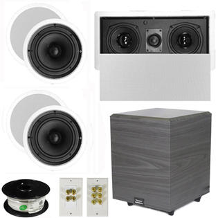 Theater Solutions 5.1 Home Theater 6.5&amp;#34; Speakers Set with Center, 8&amp;#34; Powered Sub and More TS65CL51SET2 at Sears.com