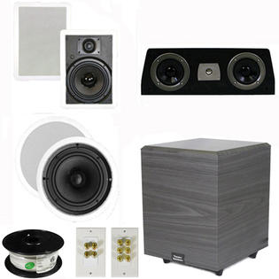 Theater Solutions 5.1 Home Theater 8&amp;#34; and 6.5&amp;#34; Speakers Set with Center, 8&amp;#34; Powered Sub and More TS6W8CC51SET2 at Sears.com