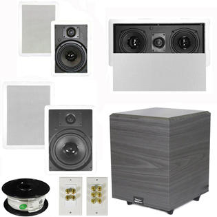 Theater Solutions 5.1 Home Theater 8&amp;#34; and 6.5&amp;#34; Speakers, Center, 8&amp;#34; Powered Sub and More TS6W8WL51SET2 at Sears.com