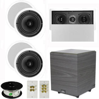 Theater Solutions 5.1 Home Theater 8&amp;#34; Ceiling Speakers, Center, 8&amp;#34; Powered Sub and More TS80CL51SET2 at Sears.com
