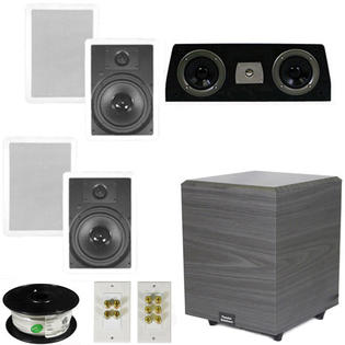 Theater Solutions 5.1 Home Theater 8&amp;#34; In Wall Speakers, Center, 8&amp;#34; Powered Sub and More TS80WC51SET2 at Sears.com
