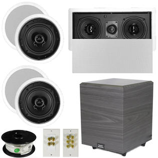 Theater Solutions 5.1 Home Audio Speakers 4 Speakers, 1 Center, 8&amp;#34; Powered Sub and More TS50CL51SET2 at Sears.com