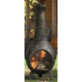 The Blue Rooster Dragonfly Style Cast Aluminum Chiminea With Propane Gas Conversion Kit - Gold Accent at Sears.com