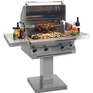 Solaire Gas Grills 30 Inch Infravection Propane Gas Grill With One Infrared Burner And Rotisserie On Bolt Down Post at Sears.com