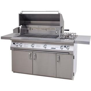 Solaire Gas Grills 56 Inch All Infrared Propane Gas Grill On Cart With Rotisserie And Double Side Burner at Sears.com