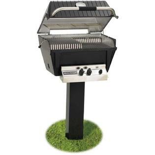 Broilmaster P4-xfn Premium Natural Gas Grill On Black In-ground Post at Sears.com