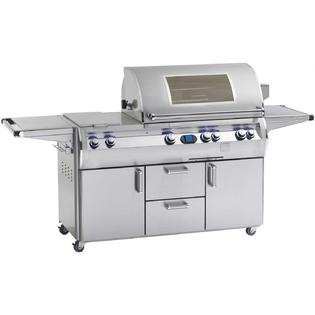 Fire Magic Echelon Diamond E660s Propane Gas Grill With Double Side Burner Power Hood And Magic View Window On Cart at Sears.com