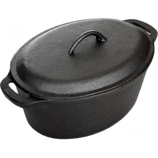 Cajun Cookware Pots 5 Quart Seasoned Cast Iron Oval Casserole Pot at Sears.com