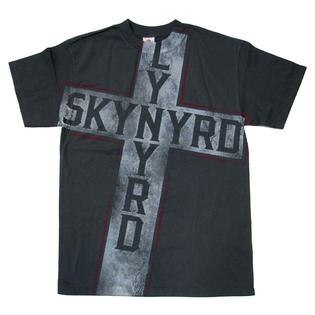 Trenz Shirt Company Lynyrd Skynyrd Distressed Jumbo Cross Grey T-shirt-xxl at Sears.com