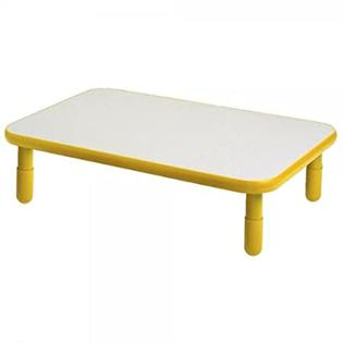 Angeles Corporation (AGC) ANGELES30X48 RECTANGULAR TABLE-Sunshine Yellow-24 at Sears.com
