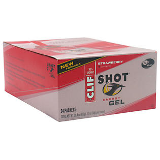 24 Packets Shot Energy Gel, Strawberry + Caffeine, 24 Packets, 1.2 oz (34 g) Each, From Clif Bar at Sears.com