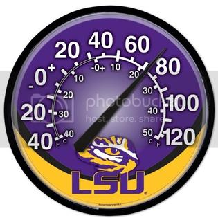 Wincraft LSU TIGERS OFFICIAL 12.75&amp;#34; DIAMETER NCAA THERMOMETER at Sears.com
