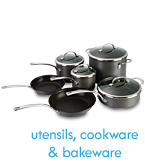 utensils, cookware, and bakeware