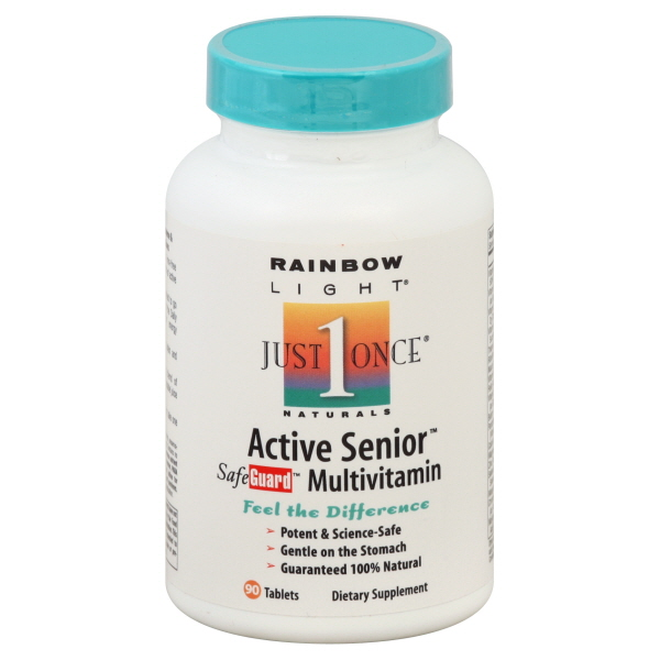 Rainbow Light Just Once Naturals Multivitamin, Active Senior, Tablets, 90 tablets at Kmart.com