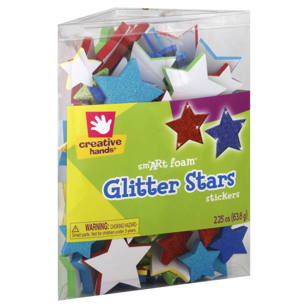 Creative Hands Sm'ART Foam Stickers, Glitter Stars, 2.25 oz (63.8 g) at Kmart.com