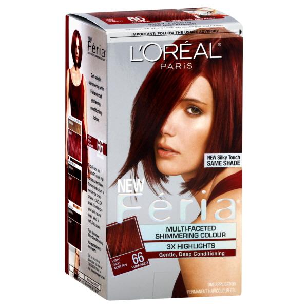L'Oreal Paris Féria® Multi-Faceted Shimmering Colour 66 Very Rich Auburn Hair Color 1 kt Box PartNumber: 01334453000P KsnValue: 48355423 MfgPartNumber: U-HC-3530