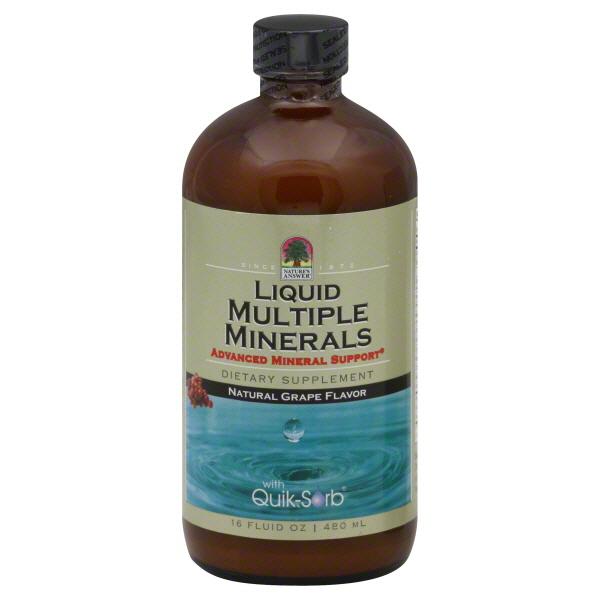 Nature's Answer Multiple Minerals, Liquid, Grape Flavor, 16 fl oz (480 ml) at Kmart.com