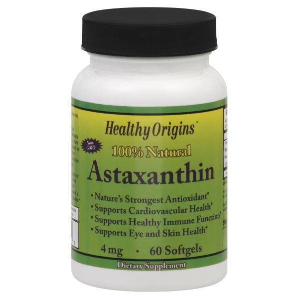 Healthy Origins Astaxanthin, 4 mg, Softgels, 60 softgels at Kmart.com