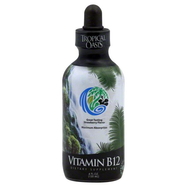 Tropical Oasis Vitamin B12, Strawberry Flavor, 4 fl oz (120 ml) at Kmart.com