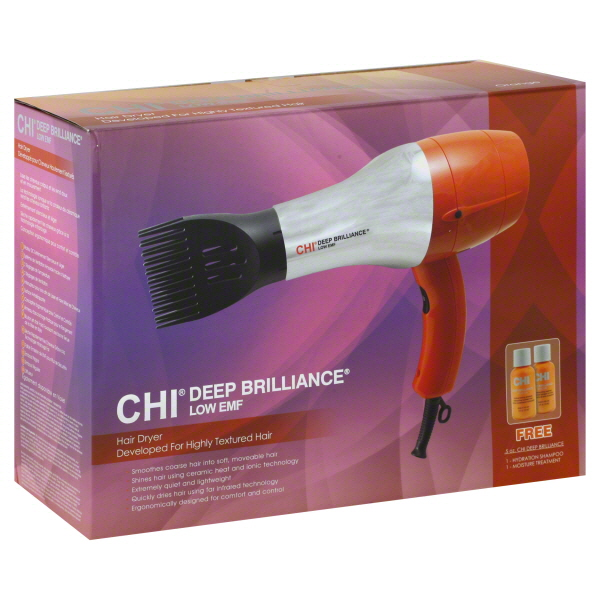 Chi Deep Brilliance Hair Dryer, Low EMF, Orange, 1 dryer at Sears.com
