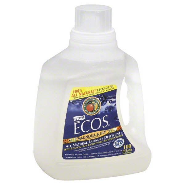 Earth Friendly Ecos Laundry Detergent, 2X Ultra, Magnolia & Lily,  HE, Liquid, 100 fl oz (2.957 lt) at Kmart.com