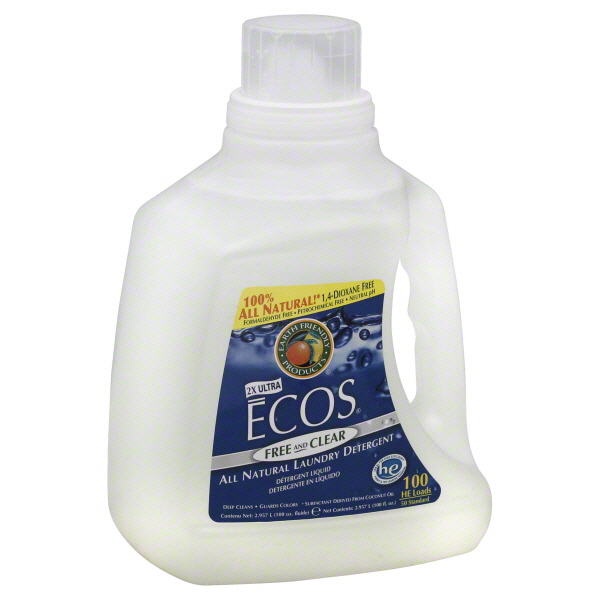 Earth Friendly Ecos Laundry Detergent, 2X Ultra, Free and Clear, HE, Liquid, 100 fl oz (2.957 lt) at Kmart.com