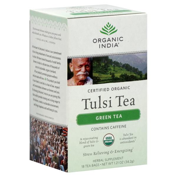 Organic India Tulsi Tea, Green Tea, 18 tea bags [1.21 oz (34.2 g)] at Kmart.com