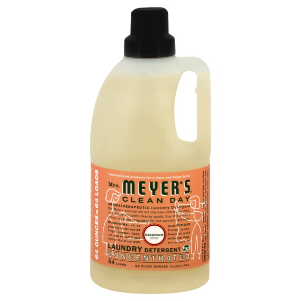 Mrs. Meyer's Clean Day HE Laundry Detergent, Concentrated, Geranium Scent, 64 fl oz (0.5 gl) 1.89 lt at Kmart.com