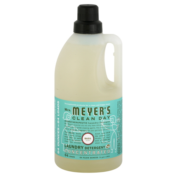 Mrs. Meyer's Clean Day HE Laundry Detergent, Concentrated, Basil Scent, 64 fl oz (0.5 gl) 1.89 lt at Kmart.com