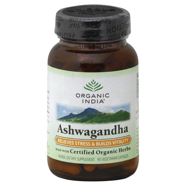 Organic India Ashwagandha, Vegetarian Capsules, 90 capsules at Kmart.com