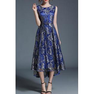 3ac390ee685 KettyMore Women Round Neck Sleeveless A-Line Stylish Dress